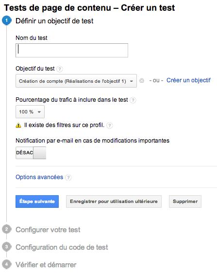 Google Analytics Website Optimizer