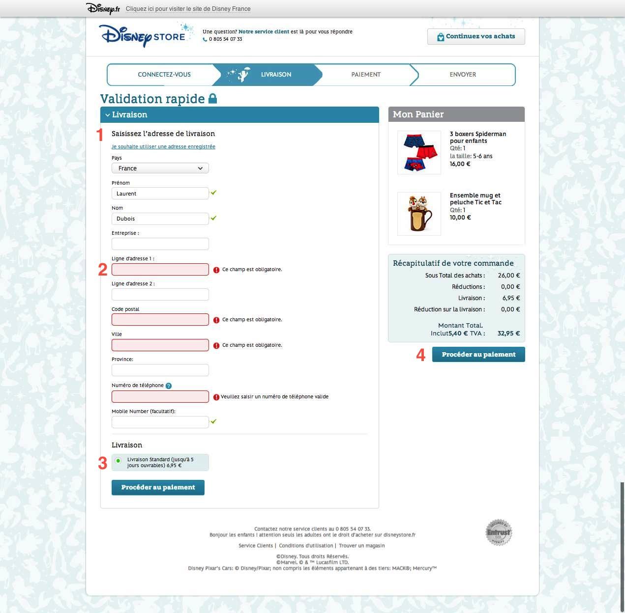 Formulaire de validation1-DisneyStore