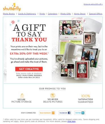 E-commerce Promotion dans e-mail transactionnel