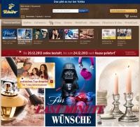 Homepage Tchibo - Ergonomie E-commerce
