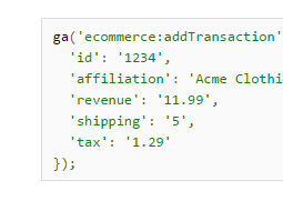 Ecommerce Tracking   Web Tracking  analytics.js    Google Analytics — Google Developers