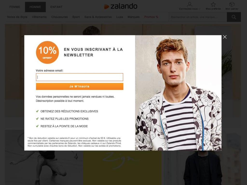 Zalando-inscription-newsletter