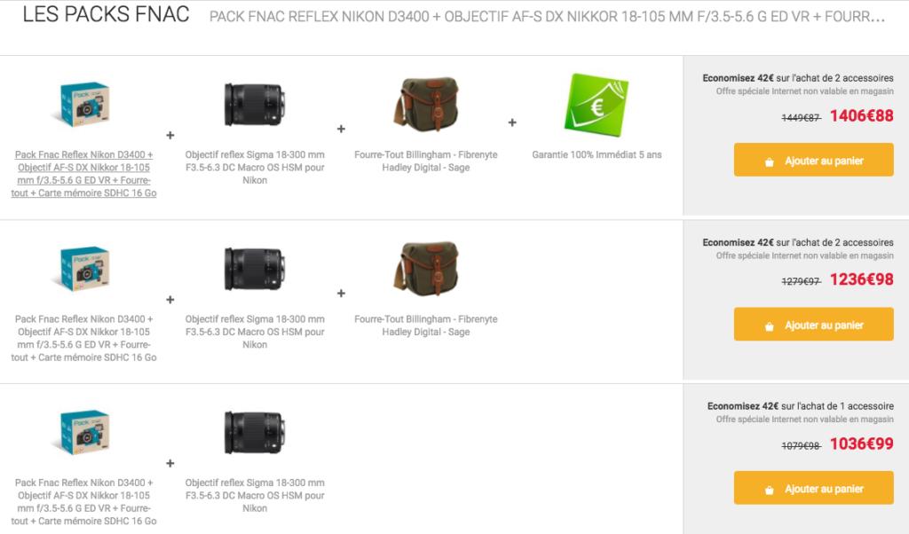 Exemple de bundle e-commerce pour faire augmenter le panier moyen