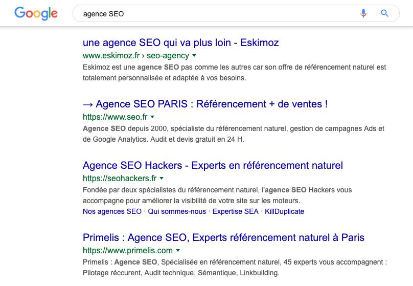 Agence SEO Google 1ere position