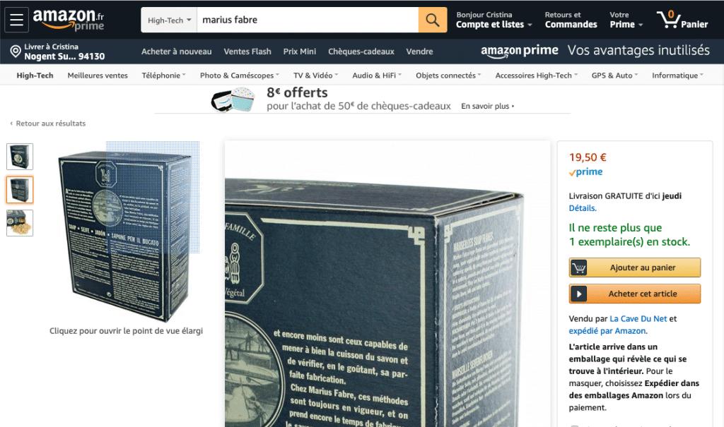 Zoom visuel produit haute définition sur Amazon