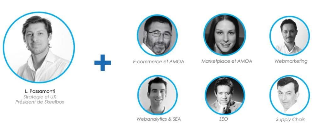 Equipe de consultants e-commerce