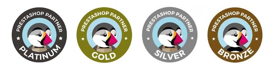 Partenaire Prestashop Platinum Gold Silver Bronze